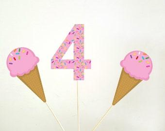 Ice Cream Centerpiece, Ice Cream Birthday, Ice Cream Party, Ice Cream Decorations