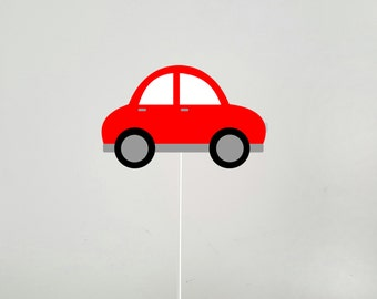 Red Car Cake Topper, Car Birthday, Car Party, Car Baby Shower