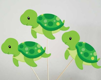 Turtle Centerpieces, Under the Sea Centerpieces