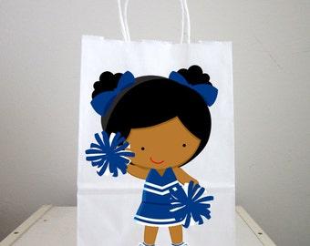 Cheerleading Goody Bags, Cheerleading Favor Bags, Cheerleading Gift Bags, Cheerleader Goody Bags, African American Cheerleader