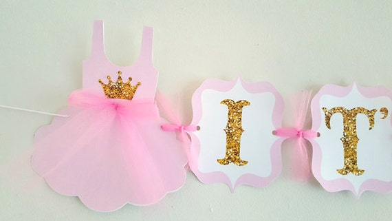 Princess Baby Shower Banner, Princess Birthday Banner, Pink and ...