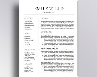SALE | Professional Resume Template CV Template Cover Letter For Word  Professional Resume Design | Instant  Resume And Cover Letter