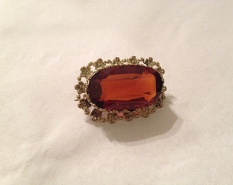 Vintage Reproduction Gold Toned Brooch