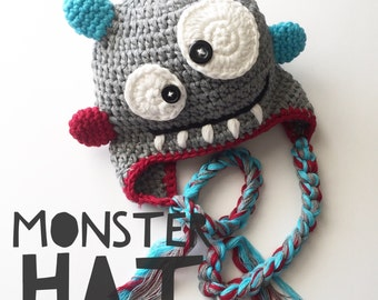 Monster Hat for Newborn, Newborn Monster Hat, Monster Hat, Newborn Hat, Monster Hat, Monster Hat for Newborn, Newborn Monster Hat