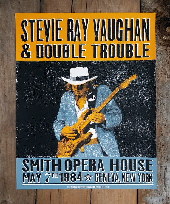 stevie ray vaughan live at the smith by highfidelityprints. Black Bedroom Furniture Sets. Home Design Ideas