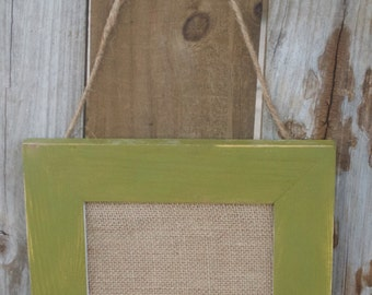 Olive Green Burlap Message Board