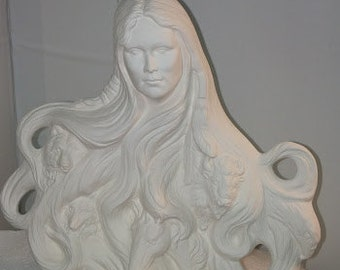 Nature Spirit in Ceramic Bisque