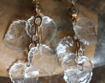 Translucent Falling Leaf Earrings