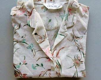 floral top \ abstract print \ light tee