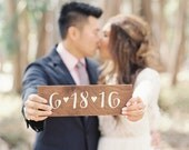 save the date sign / engagement sign / engagement photoshoot sign / custom wedding date / baby due date sign.
