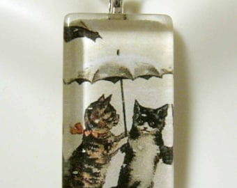 Umbrella cat pendant and chain - CGP12-037