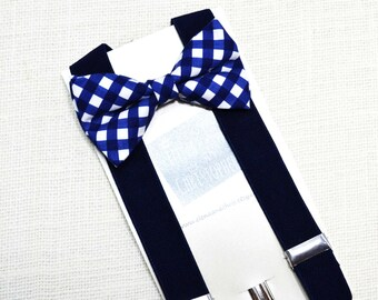 boys gingham bow tie etsy