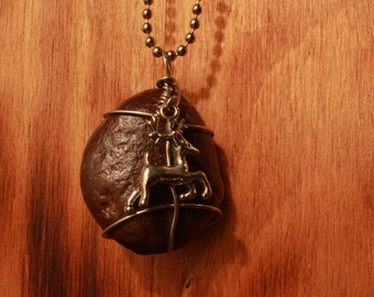 Oh Deer - Red Rock/Wire Wrapped Necklace