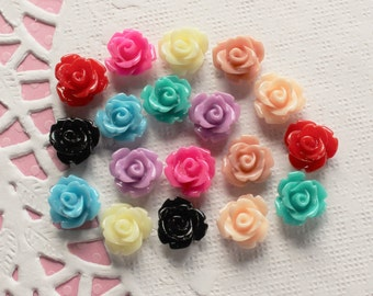 18 Pcs Tiny Rose Cabochons Set A - 9x9mm