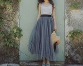 L'amant Collection princess grey layered ballet skirt