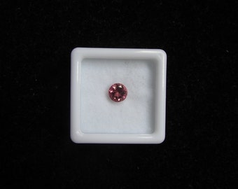6 mm Round Natural genuine PINK TOURMALINE round top cut faceted gemstone.....