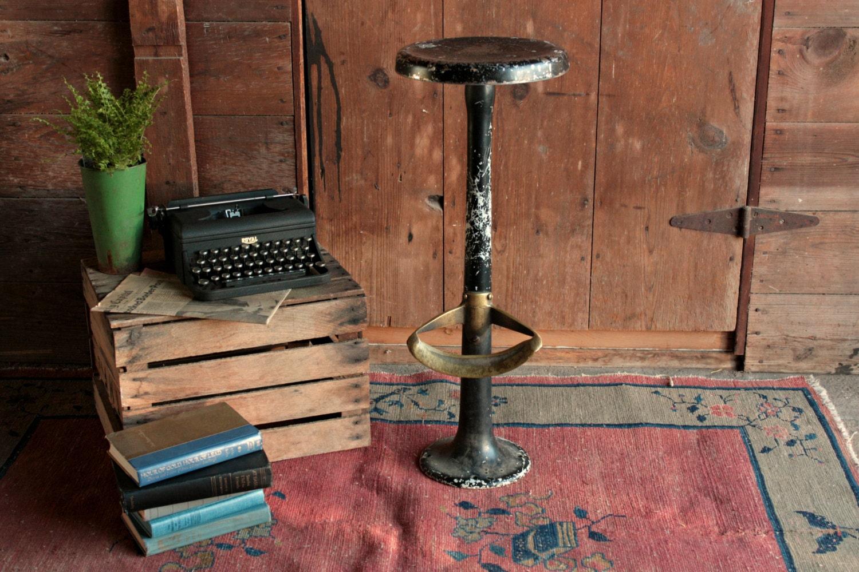 vintage bar stool vintage industrial stool vintage swivel. Black Bedroom Furniture Sets. Home Design Ideas