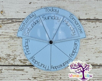 Days Of The Week Educational Wheel