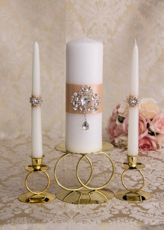 crystal unity candles set wedding candles wedding unity