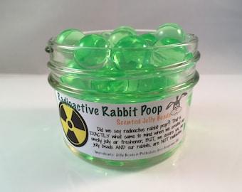 "Rabbit Poop Air Freshener -  ""Radioactive"" Rabbit Poop Scented Jelly Beads - Scented Gel Beads - Gel Air Freshener - Room Deodorizer - 4 oz"