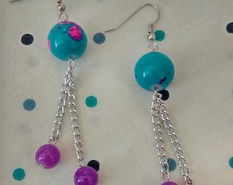 Neon Splatter Earrings