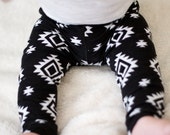 Black and White Aztec Leggings - Baby...