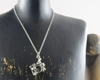 Sterling silver drum set necklace, drum kit necklace, drummer gift, musician necklace, band, drum set pendant, music jewelry, band member