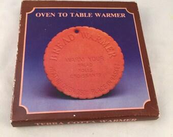 Terra Cotta Bread Warmer/Bun Warmer/Bakery Warmer