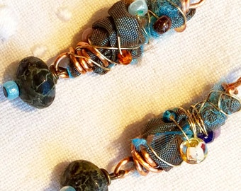 Silk and Gems Earrings BB-92
