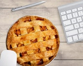 Apple Pie Mouse Pad, Pie Mouse Pad, Food Mouse Pad, Baker's Mouse Pad (0057)