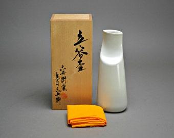 Milky White Kiyomizu Rokubei VII Vase