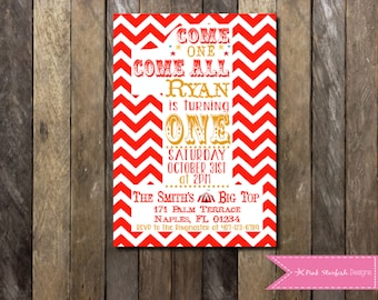 Circus Birthday Invitation, Circus 1st Birthday Invite, Circus First Birthday Invitation, Carnival Birthday Party, Circus Birthday Party