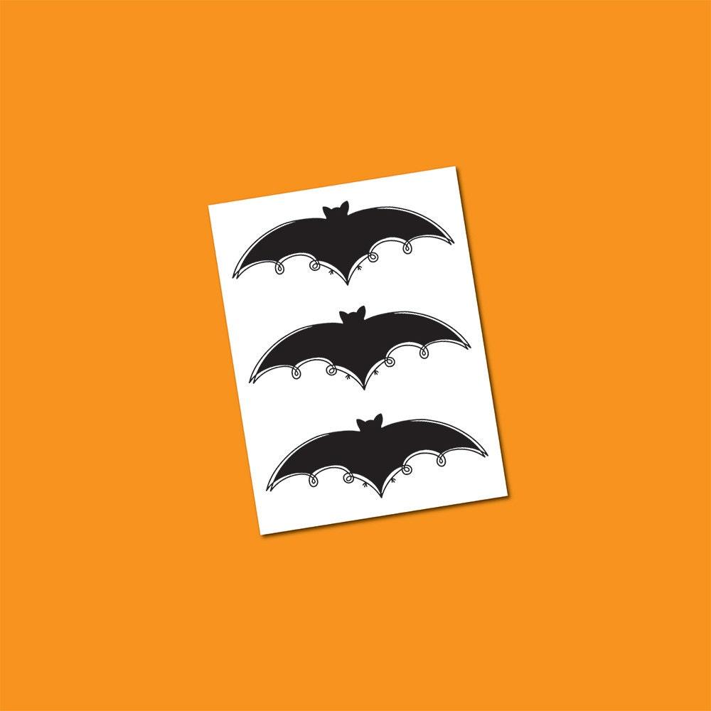 black bat tattoo halloween temporary tattoos fake tattoos