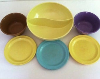 Vintage Melamine Bowls and Plates Genuine Melmac