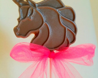 Unicorn chocolate lollipops