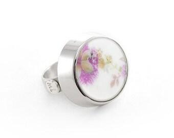 Delicate ring, wedding, romantic gift , 18th anniversary gift, Rose ring, BAVARIA GERMANY INGEBORG, graduation present, unique gift
