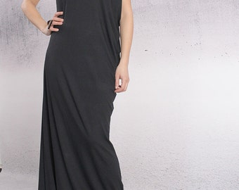 Maxi Dress, Floor length dress, Party dress, Asymmetric dress, Long dress, Comfortable elegant dress by UrbanMood- CO-DEVA-VL