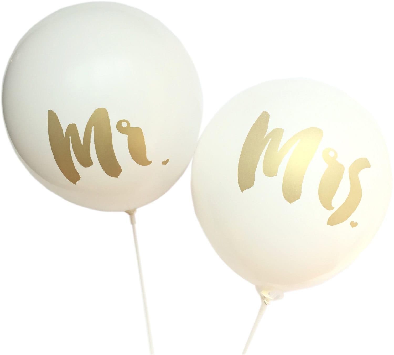 Mr. & Mrs. 12 Balloon Set Of 2