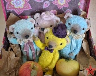 "Teddy bear OOAK 6"" handmade"