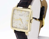 LeCoultre Automatic Square Wrist Watch 10K Gold Filled