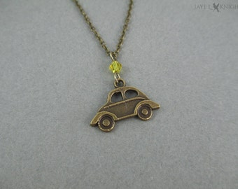 Emma Swan Car Necklace - Once Upon a Time - Storybrooke - Bronze Charm
