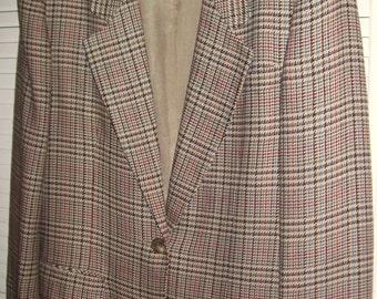 Vintage Talbot's Glen Plaid Blazer Jacket.  Wonderful fall colors  Size 14