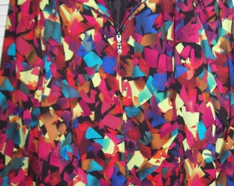 Jacket XL,  Molly and Maxx Bright Neon Colors Fun Lively Jacket  XL Electric Presence !
