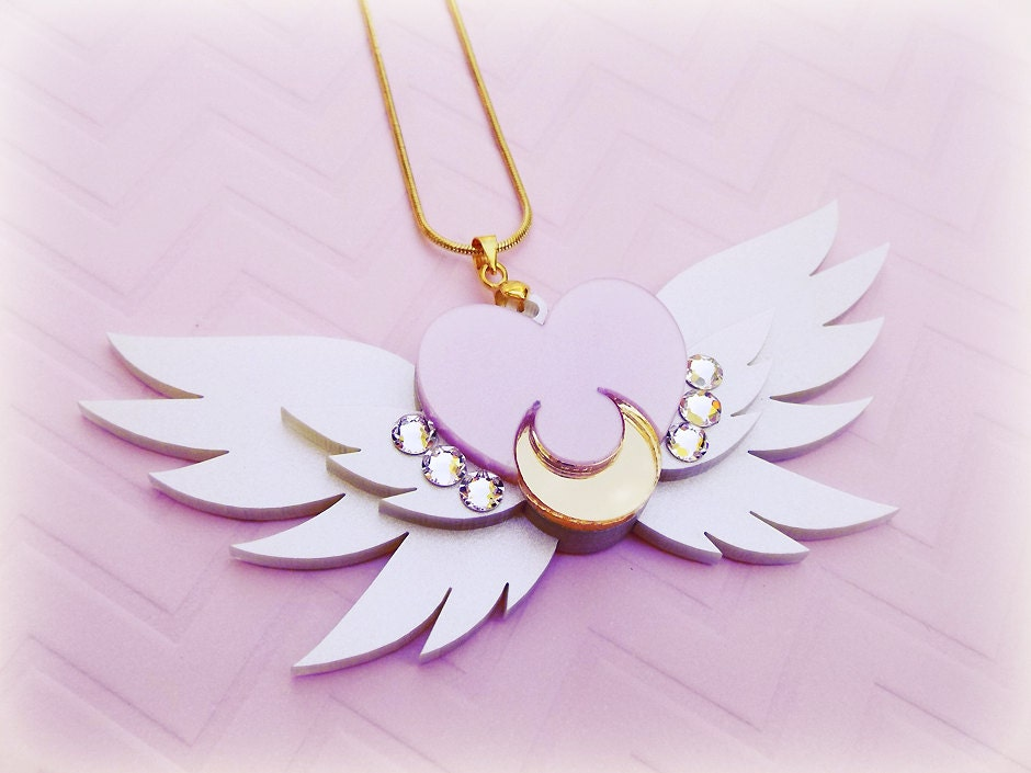sailor moon brooch eternal necklace mini crystal accesorios luna etsy collar broche brooches orden eterna broches jewelry manga desde guardado