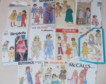 Toddler Little Girl Dress Romper Jumper Swim Robe Vintage Patterns Simplicity Mccalls Butterick