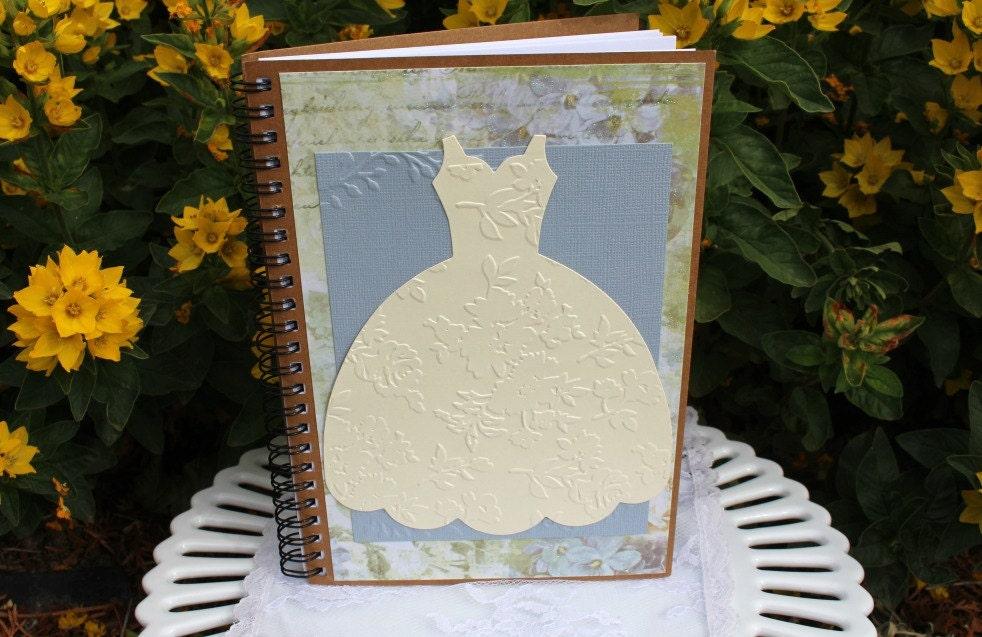 Wedding planner book bridal dress spiral notebook bridal for The notebook wedding dress