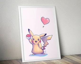 Pikachu Fan Art Print