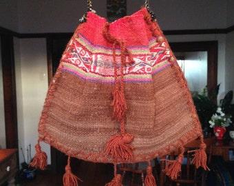 Gypsy Tribal Shoulder Purse Peruvian Alpaca Wool