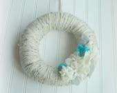SaLe!! FELT Flower WREATH, Cozy Wreath, BLooM Wreath,  Decor // Home Decor //  Felt Flowers // One of a Kind - Handmade Ready to Ship!!