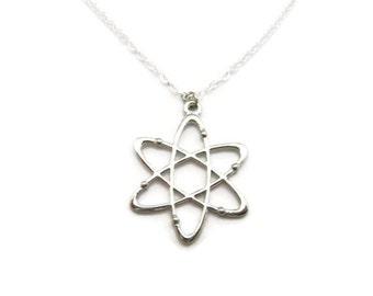 Atom Necklace Science Necklace STEM Necklace Physics Necklace Chemistry Necklace Atom Jewelry Science Jewelry Science Gifts Physicists Gift
